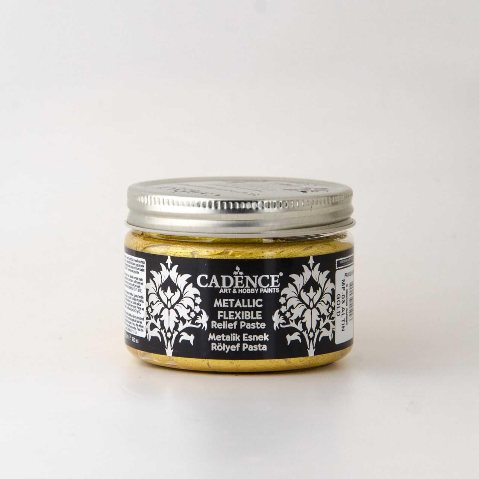 Cadence Metalik Esnek Rölyef Pasta - Cadence Rölyef Pasta - Altın Renk Dolgu