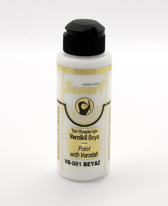 Beyaz Senart Vernikli Boya 120 ML VB001 - akrilik vernikli boya- vernikli-